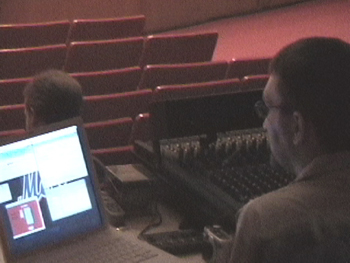 Technical Manager, Tohm Judson, webcasts each concert