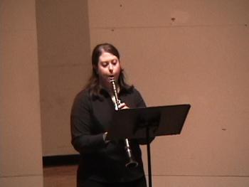 "Clarinetist Shandra Feldthouse performs ""Natalia Mia"" by Maria Contreras."