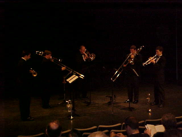 Liberace Brass Quintet performing Rondo Ostinato, Composer - Jonathan Santore
