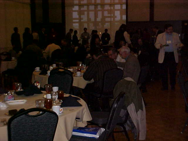 Composers and attendees at the dinner in the University of Central Oklahoma's newly remodeled Ballroom.