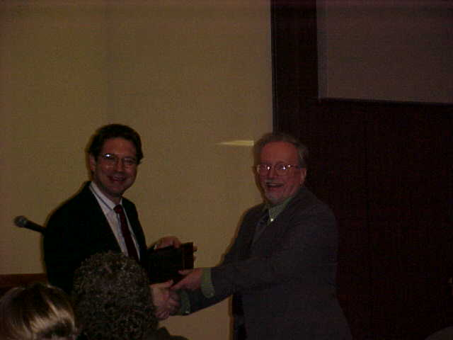 Dr. Samuel Magrill was given an award for hosting the conference.