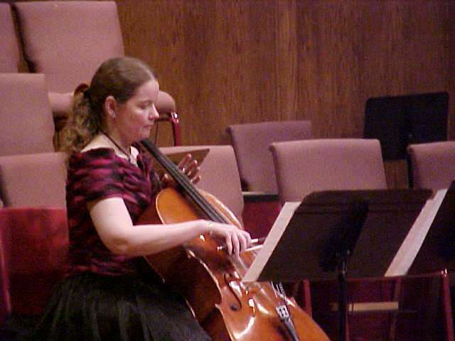 Tess Remy-Schumacher performed Wedding Braid for Cello Solo Composer was Dr. Samuel Magrill