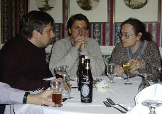 Liviu Marinescu, Thomas Licata, Franklin Cox at the Big Tree Inn