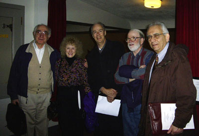 Ernesto Pelligrini, Priscilla McLean, James Willey, Barton McLean, Paul Epstein in Wadsworth Auditorium