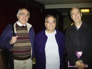 Ernesto Pelligrini, Bob Isgro, James Willey in Wadsworth Auditorium