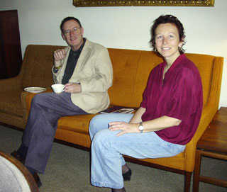 Brian Bevelander, Anneliese Weibel in the Faculty Lounge