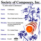 Cultivated Choruses CD cover